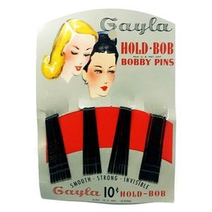 Vintage! 1947 GAYLA Bobby Hair Pins, 30-Pack